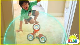 Ryan Pretend Play with Fidget Spinners and Avengers Superhero Hide and Seek!!!
