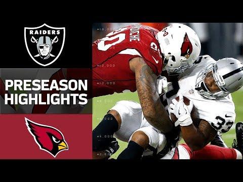 Arizona Cardinals vs Oakland Raiders