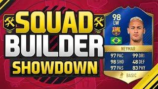 FIFA 17 SQUAD BUILDER SHOWDOWN!!! TEAM OF THE SEASON NEYMAR!!! 98 Neymar Squad Builder Duel