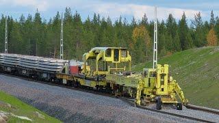 Worlds largest track layer - Plasser & Theurer SVM1000 Infranord at Haparandabanan, Sweden