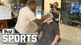UFC's Daniel Cormier Brutal Pie Justice...Crushes TMZ Staffer | TMZ Sports