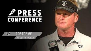 Coach Gruden Postgame Presser - 9.15.19   Raiders