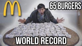 65 MCDONALD'S HAMBURGER CHALLENGE!! WORLD RECORD!!