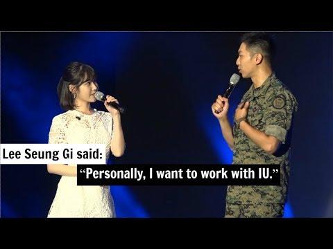 Lee Seung Gi Said He Really Want To Work With IU
