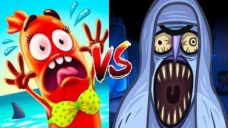 Troll Face Quest Horror Vs Run Sausage Run - All Horrors Cut Scene & All Maps Cute Sausage Epic Run