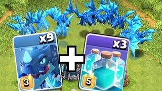 """THE MOST E-DRAGONS POSSIBLE!! """"Clash Of Clans"""" CLONE WARS!!"""