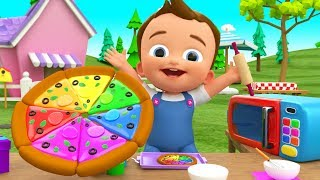 Little Baby Making Pizza DIY - Kids Toddlers Activities Learn Colors for Children with Pizza Slices - YouTube