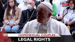 Pope Francis says same-sex couples have a right to be legally covered