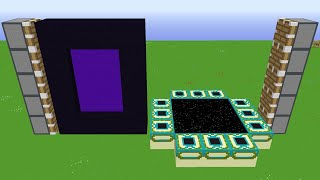 nether portal + end portal of 1000 blocks