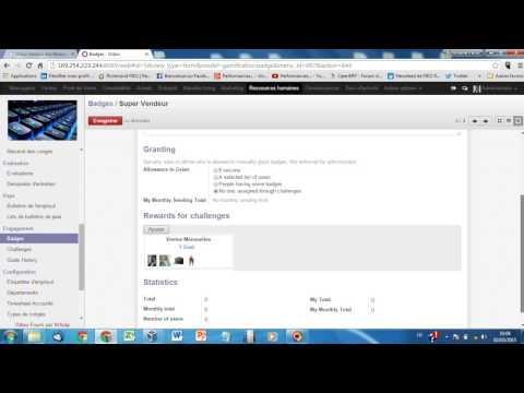 Odoo V8 GRH 2: Gestion des notes de Frais et Gamification
