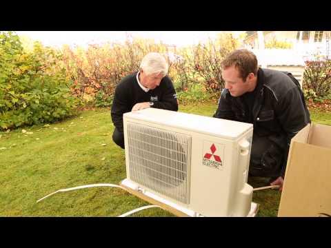 Montering av varmepumpe - Mitsubishi Electric Kirigamine Hara