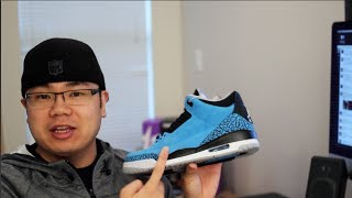 Jordan 3 Powder Blue - The Smurf Shoes