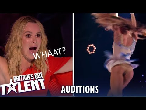 A&J: Aerial Performing Duo SHOCK Everyone...Watch What Happens! | Britain's Got Talent 2019