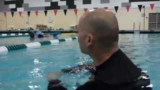 Lifeguarding Drill: Kickback, Eggbeater Kick Variation