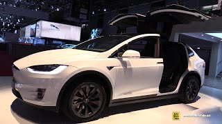 2019 Tesla Model X P100D - Exterior and Interior Walkaround - 2018 Paris Motor Show