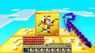 SKYBLOCK but ALL BLOCKS are LUCKY BLOCKS! (Minecraft)