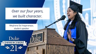 Meghana Sai Iragavarapu | Student Commencement Speaker video