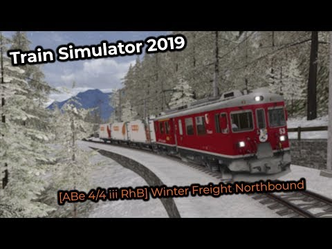 [ABe 4/4 iii RhB] Winter Freight Northbound (Livestream 03/02/2019)