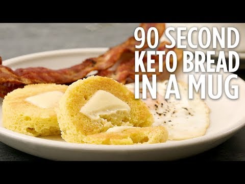 How to Make 90-Second Keto Bread in a Mug | Easy Keto Recipes | Allrecipes.com