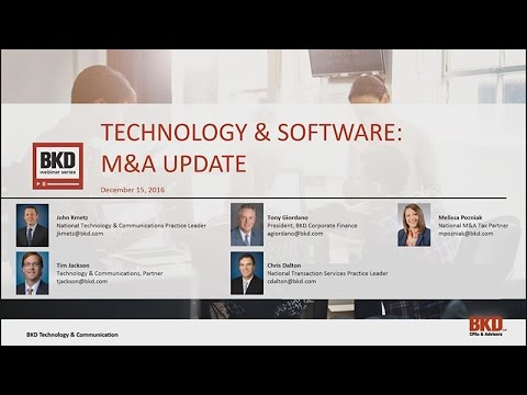Technology & Software M&A Update