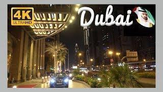 Dubai in 4K UHD - Downtown. A Night Walk.