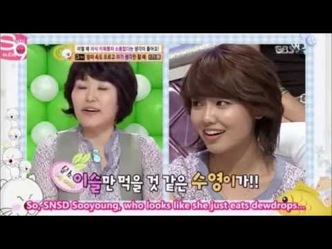 SNSD Sooyoung - GLUTTONY for FOOD. HAHA!