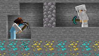 I secretly used XRAY in Minecraft Manhunt...