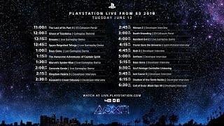 PlayStation Live From E3 Day 1