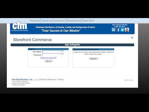 Part 1 - Getting Started | cfm eStorefront Training Series