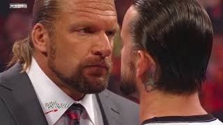 Raw: Tensions mount between CM Punk and Triple H