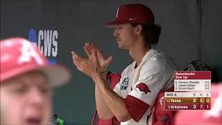 #5 Arkansas vs. #13 Texas (2018 CWS Game 1)