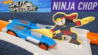 Hot Wheels Split Speeders Ninja Chop Track Set Play Set Review By RaceGrooves