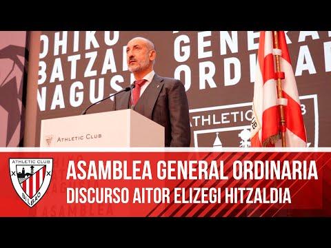 ASAMBLEA 2021 I Discurso de Aitor Elizegi