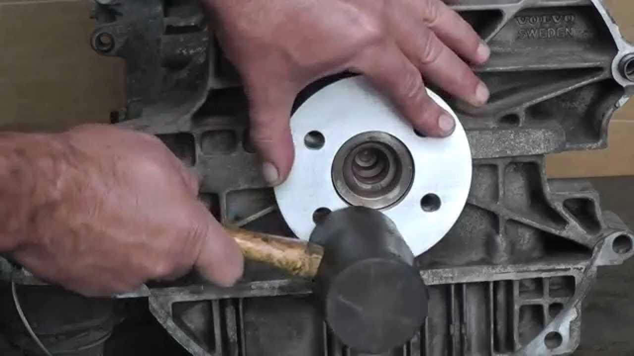 Volvo Engine Main Rear Seal Installation Tool Youtube