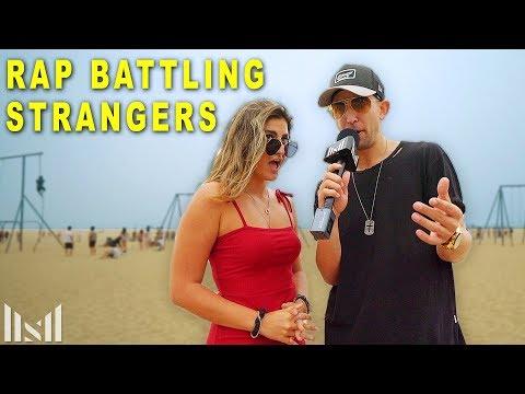 Rap Battling STRANGERS!!  to Eminem Songs