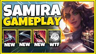 *SAMIRA GAMEPLAY* THE MOST BROKEN CHAMPION EVER RELEASED (OVERLOADED KIT) - League of Legends