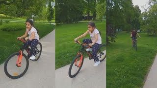 Mahesh Babu daughter Sitara cycling with her brother Gauth..