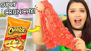 HOT CHEETO SLIME! DIY Super Crunchy Cheetos Slime!