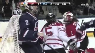 Fighting in women's hockey Canada vs USA