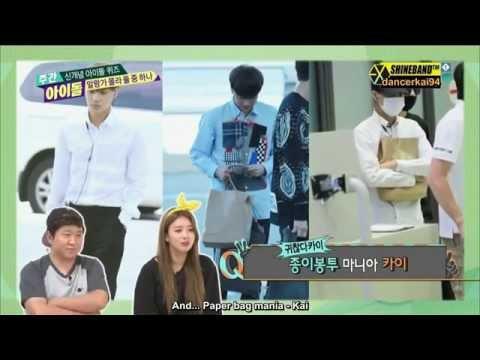 [Eng Sub HD] 140903 EXO Kai - Weekly Idol (Kai's Paper Bag)