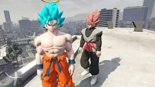 GTA 5 - Thần Blue Goku ngăn chặn Black Goku|GHTG