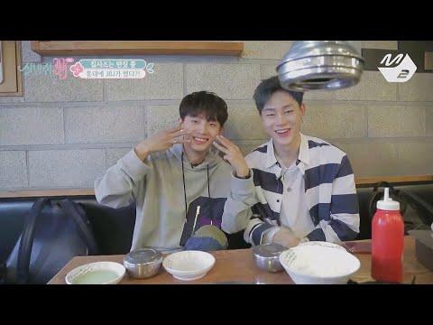 [JustBeJoyful JBJ] A free spirit Yongguk&Hyunbin's Samgyeopsal eating show at Hongdae Ep.2