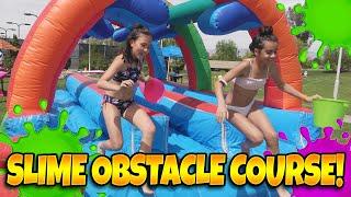 SLIME OBSTACLE COURSE!!! Pop Pops Slime Fest Battle Challenge!