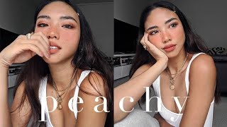 PEACHY | Drugstore Makeup Tutorial | rachelteetyler