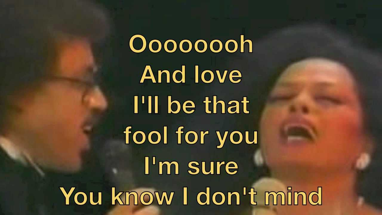 Diana Ross and Lionel Richie Endless Love Lyrics - YouTube