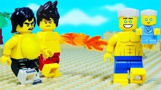 Lego Ninjago Hunted Fat Ninja Baby Beach Prank Fail