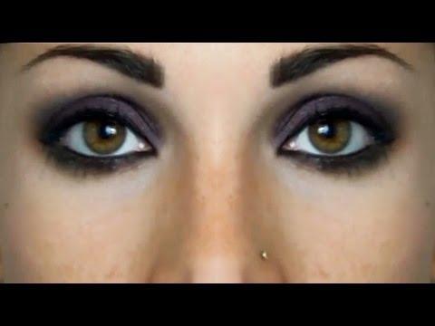 Semplice Smokey Eyes nero e borgogna | Beautydea - YouTube
