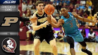 Purdue vs. Florida State Condensed Game   2018-19 ACC Basketball