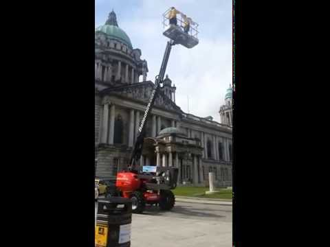 Cherry Picker Challenge at Belfast City Hall
