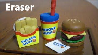Kutsuwa DIY Eraser Making Kit 3 - Fast Food Hamburger